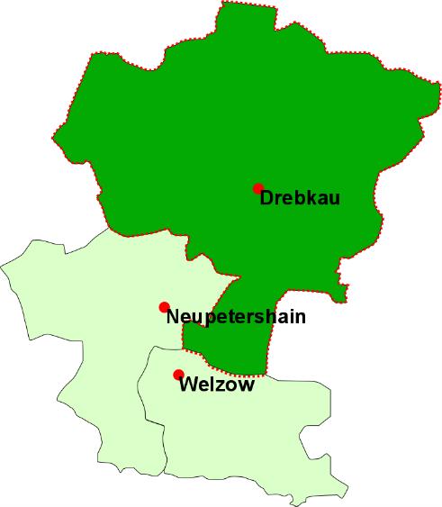 Verteilungsgebiet Drebkauer Heimatblatt